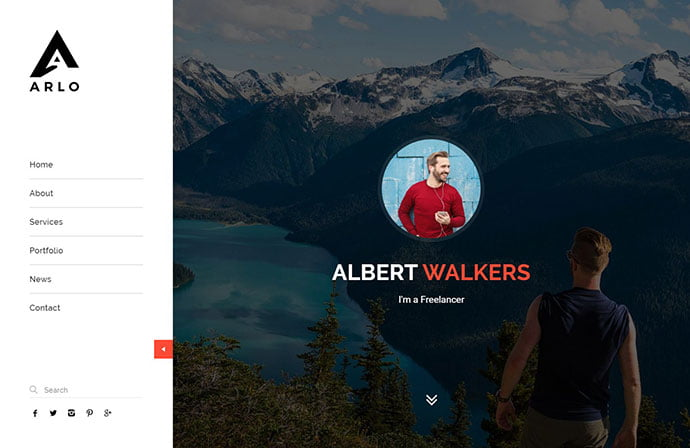 Arlo - 43+ BEST WordPress Minimalist Portfolio Themes [year]