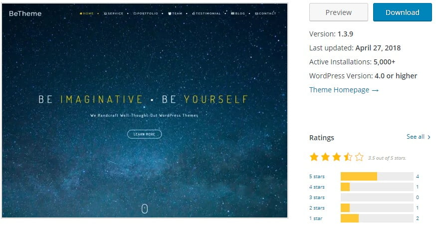 BeOnePage - 35+ BEST Free WordPress Minimalist Themes [year]