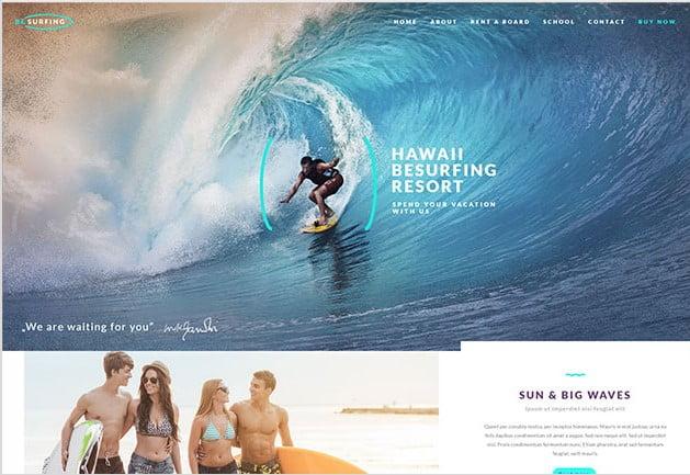 BeTheme-1 - 35+ TOP Surfing Website WordPress Themes [year]