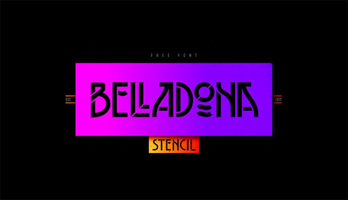 Belladona - 36+ NICE BEST Free Stencil Fonts [year]