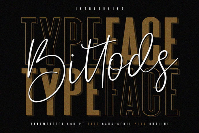 Bittods-Handwritten - 38+ TOP BEST Bold Display Fonts [year]