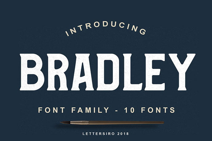 Bradley - 38+ TOP BEST Bold Display Fonts [year]