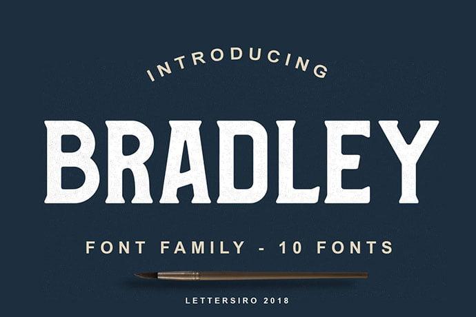 Bradley - 38+ TOP BEST Bold Display Fonts [year]