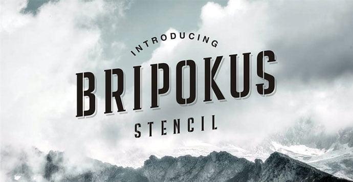 Bripokus - 36+ NICE BEST Free Stencil Fonts [year]