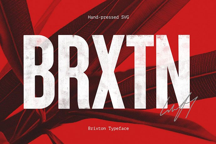 Brixton-Svg - 38+ TOP BEST Bold Display Fonts [year]