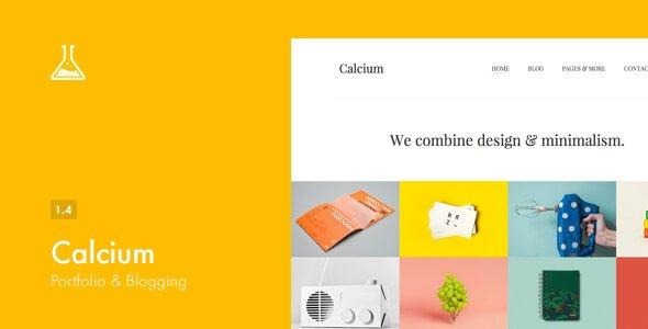 Calcium - 43+ BEST WordPress Minimalist Portfolio Themes [year]
