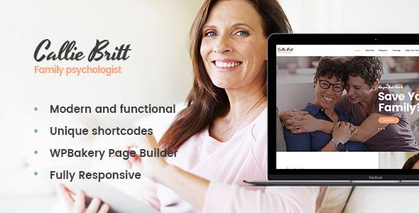 Callie-Britt - 34+ BEST Psychologists, Therapists WordPress Themes [year]