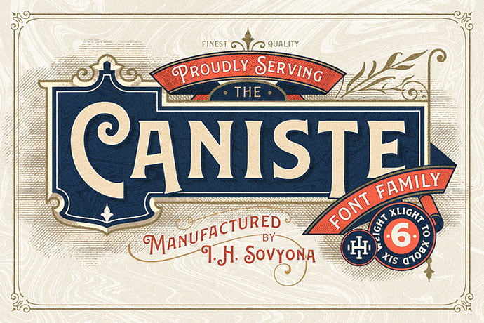 Caniste - 38+ TOP BEST Bold Display Fonts [year]