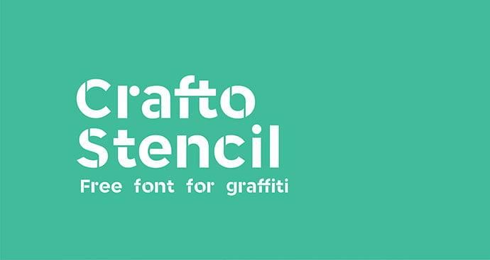 Crafto-Stencil - 36+ NICE BEST Free Stencil Fonts [year]
