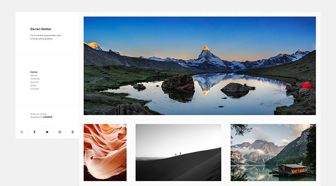 Darren - 43+ BEST WordPress Minimalist Portfolio Themes [year]