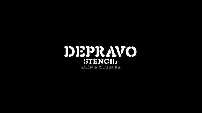 Depravo-Stencil - 36+ NICE BEST Free Stencil Fonts [year]