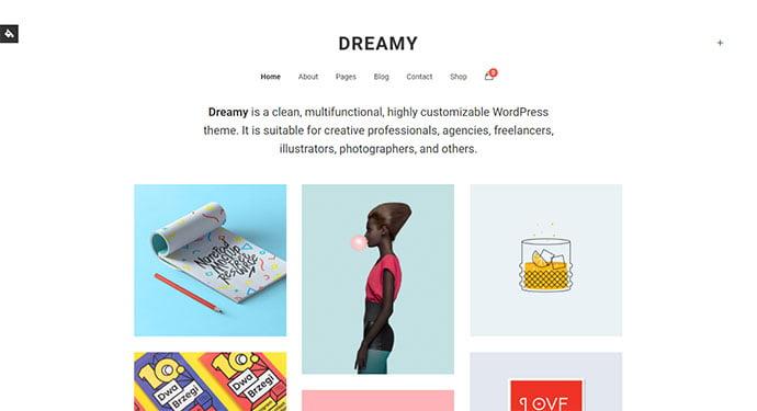 Dreamy - 43+ BEST WordPress Minimalist Portfolio Themes [year]