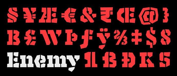 Enemy - 36+ NICE BEST Free Stencil Fonts [year]