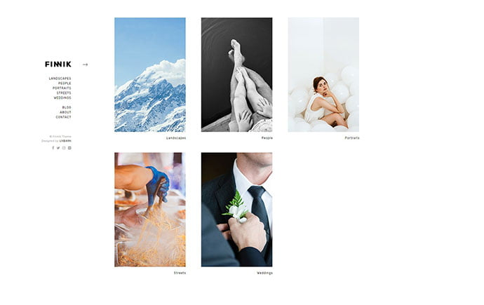 Finnik - 43+ BEST WordPress Minimalist Portfolio Themes [year]