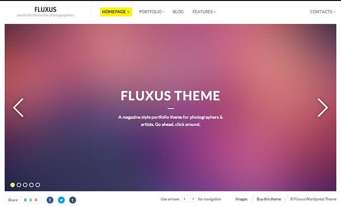 Fluxus - 43+ BEST WordPress Minimalist Portfolio Themes [year]
