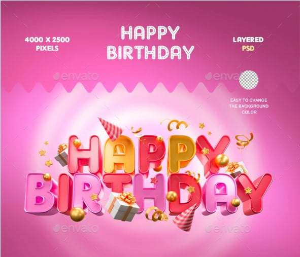 Happy-Birthday - 53+ TOP BEST Free Typography Designs IDEA [year]