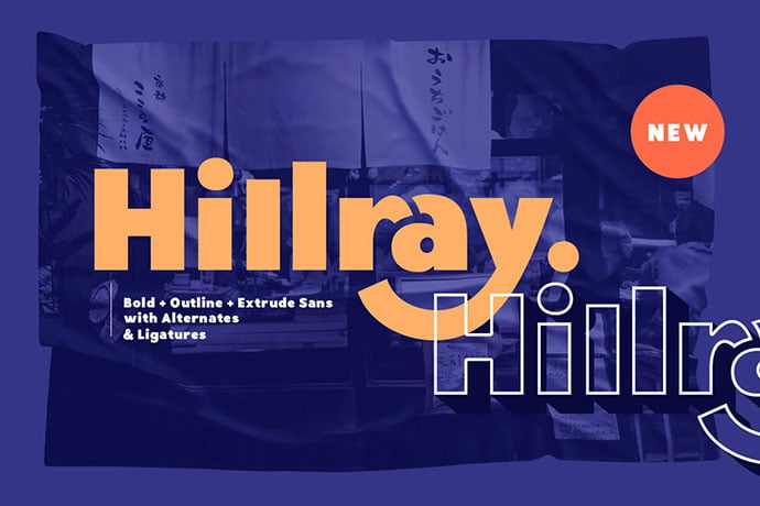 Hillray - 38+ TOP BEST Bold Display Fonts [year]