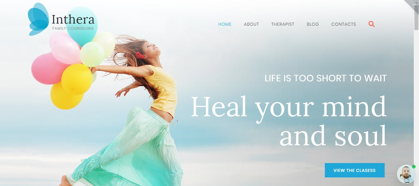 Inthera - 34+ BEST Psychologists, Therapists WordPress Themes [year]