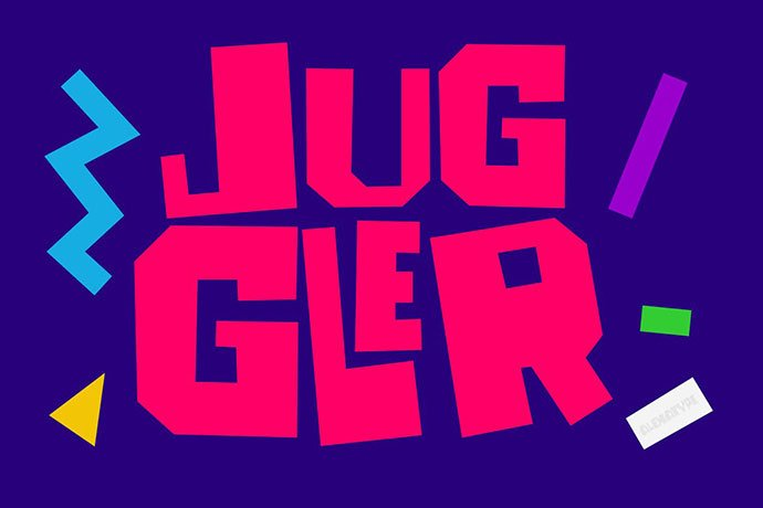 Juggler - 38+ TOP BEST Bold Display Fonts [year]