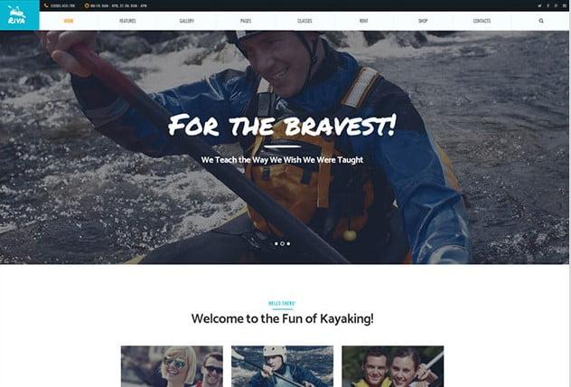 Kayaking - 35+ TOP Surfing Website WordPress Themes [year]