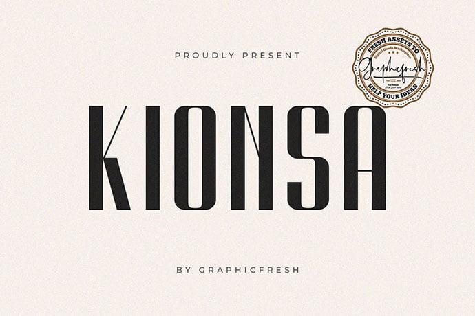 Kionsa - 38+ TOP BEST Bold Display Fonts [year]