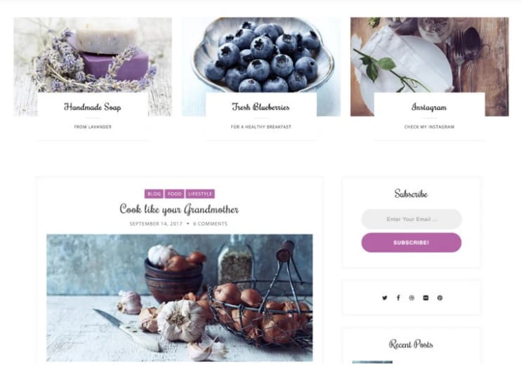 Laura-Lite - 35+ BEST Free WordPress Minimalist Themes [year]