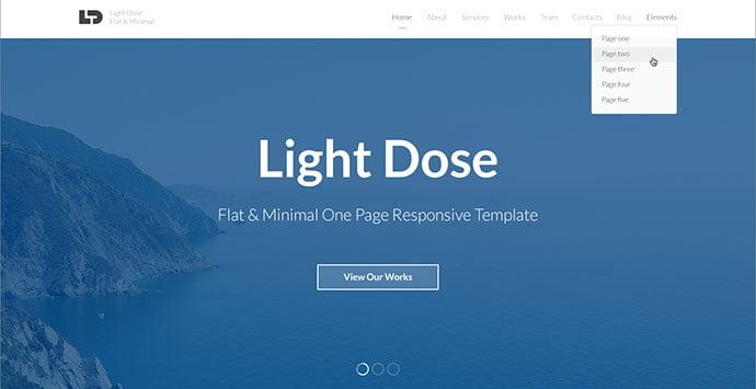 LightDose - 43+ BEST WordPress Minimalist Portfolio Themes [year]