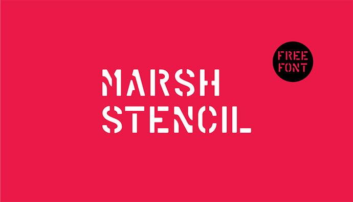MARSH - 36+ NICE BEST Free Stencil Fonts [year]