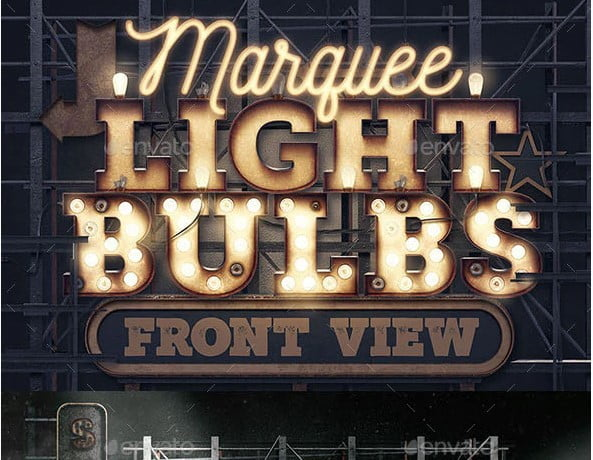 Marquee-Light-Bulbs-Creation-Kit - 53+ TOP BEST Free Typography Designs IDEA [year]