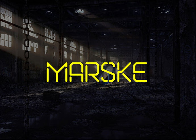 Marske - 36+ NICE BEST Free Stencil Fonts [year]