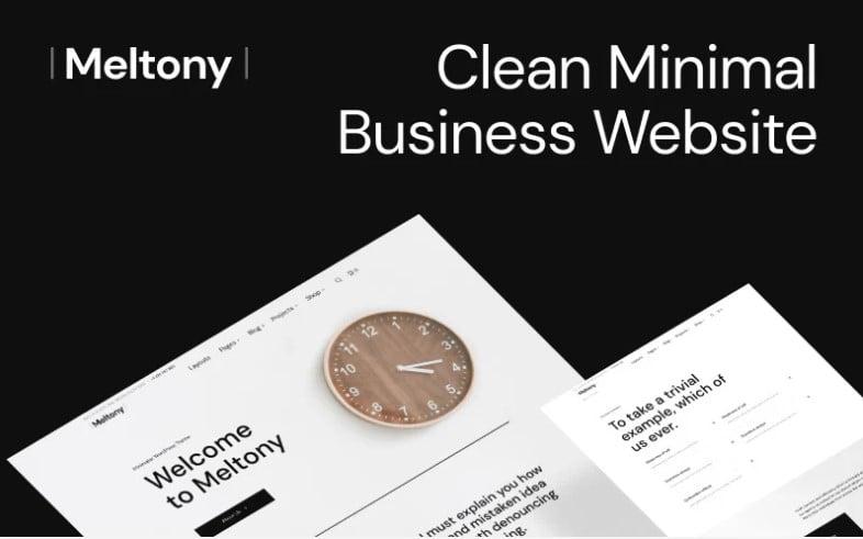 Meltony - 35+ BEST Free WordPress Minimalist Themes [year]