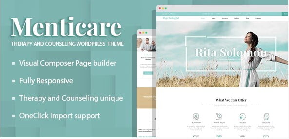 Menticare - 34+ BEST Psychologists, Therapists WordPress Themes [year]