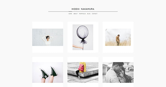 Nakamura - 43+ BEST WordPress Minimalist Portfolio Themes [year]