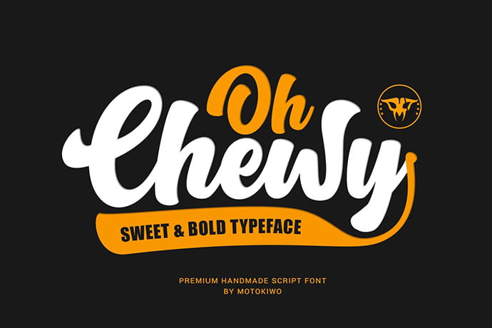Oh-Chewy - 38+ TOP BEST Bold Display Fonts [year]