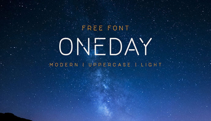 One-Day - 36+ NICE BEST Free Stencil Fonts [year]