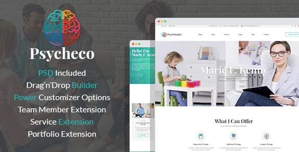 PsycheCo - 34+ BEST Psychologists, Therapists WordPress Themes [year]