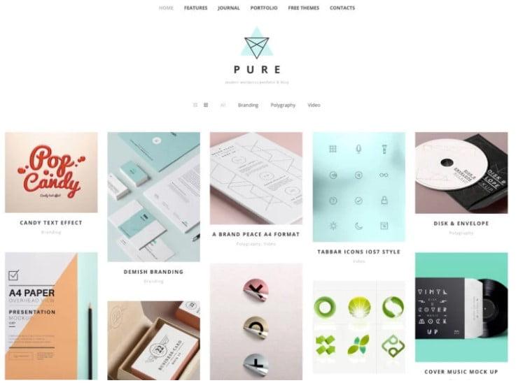 Pure - 35+ BEST Free WordPress Minimalist Themes [year]