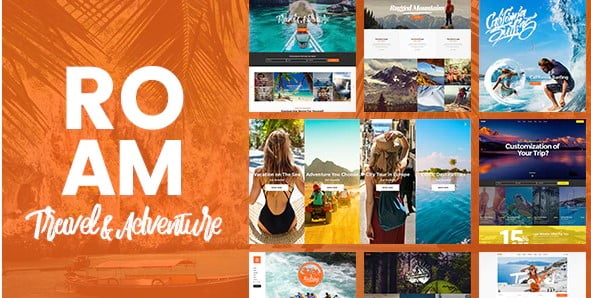 Roam - 35+ TOP Surfing Website WordPress Themes [year]