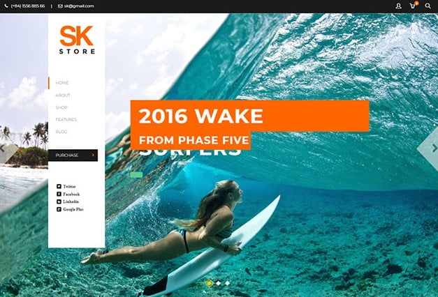 SK-Store - 35+ TOP Surfing Website WordPress Themes [year]