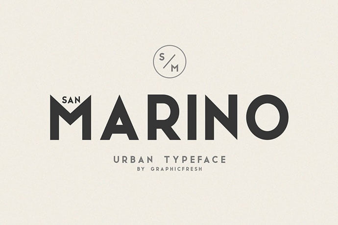 San-Marino - 38+ TOP BEST Bold Display Fonts [year]