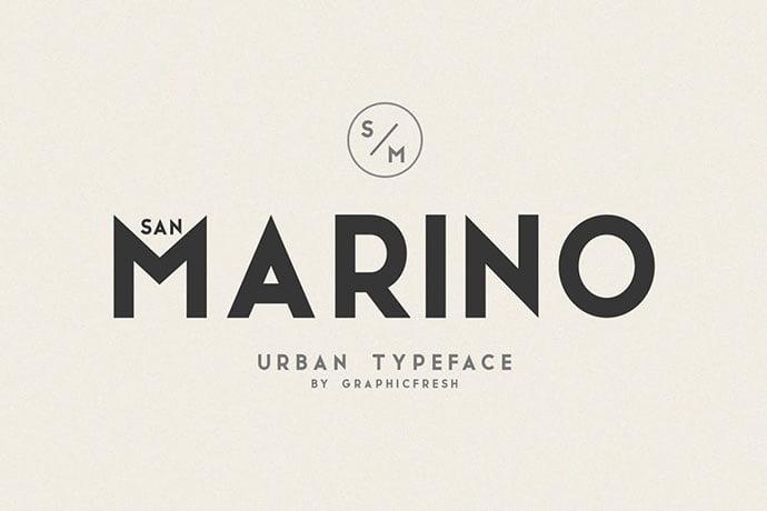 San-Marino - 38+ TOP BEST Bold Display Fonts [year]