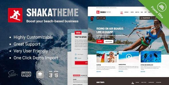 Shaka-1 - 35+ TOP Surfing Website WordPress Themes [year]