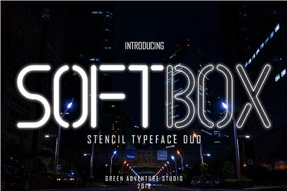 Softbox - 36+ NICE BEST Free Stencil Fonts [year]