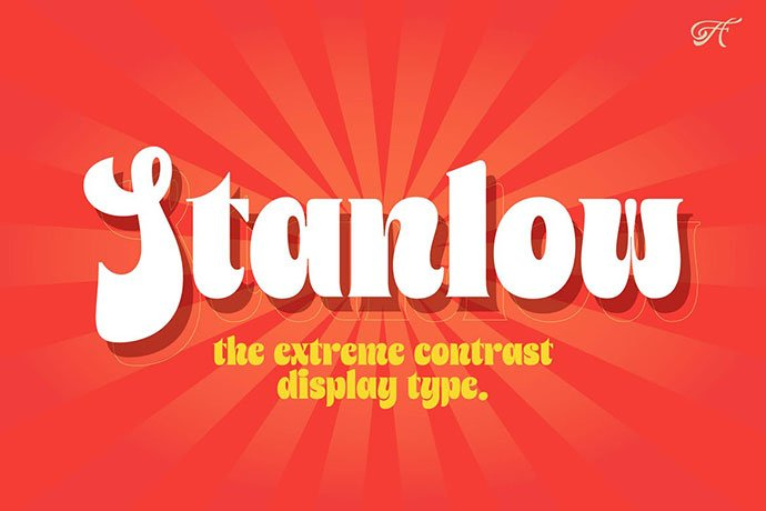 Stanlow - 38+ TOP BEST Bold Display Fonts [year]