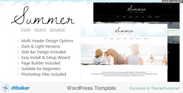 Summer - 35+ TOP Surfing Website WordPress Themes [year]