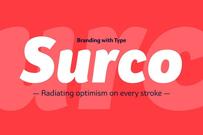 Surco - 38+ TOP BEST Bold Display Fonts [year]