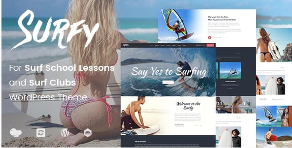 Surfy - 35+ TOP Surfing Website WordPress Themes [year]
