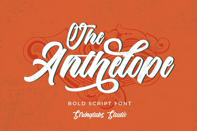 The-Anthelope - 38+ TOP BEST Bold Display Fonts [year]