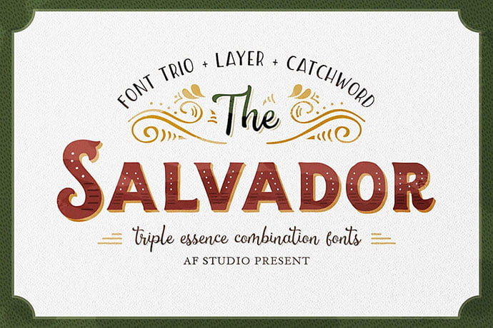 The-Salvador - 38+ TOP BEST Bold Display Fonts [year]