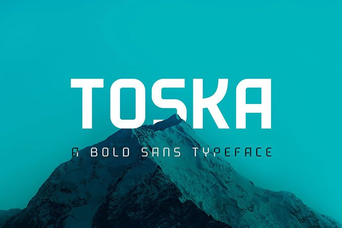 Toska - 38+ TOP BEST Bold Display Fonts [year]